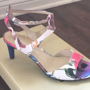 Brand new never worn sandals multi-color sandals